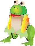 Jouet en bois de grenouille Image libre de droits