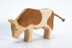 Jouet en bois de vache Image libre de droits
