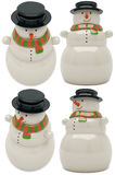 Jouet en céramique de bonhomme de neige Photo libre de droits