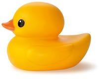 Jouet en caoutchouc jaune de canard de bain Image libre de droits