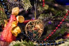 Jouet en forme de coeur de Noël Image libre de droits