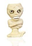 Jouet en plastique beige en tant que momie Images libres de droits