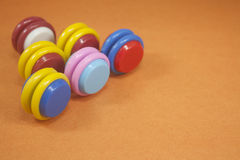 Jouet en plastique coloré Photos libres de droits