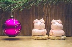 Jouet et gâteaux de Noël Images stock
