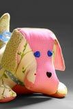 Jouet fait main de chien de patchwork Photo stock