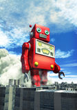 Jouet géant de bidon de robot Photographie stock libre de droits