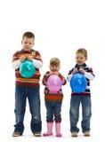 jouet heureux d'enfants de ballon Photo stock