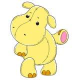 Jouet mou d'hippopotame mignon Photographie stock