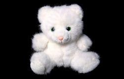 Jouet mou de chat blanc Images libres de droits