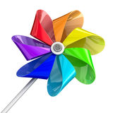 Jouet multicolore de pinwheel Photo libre de droits