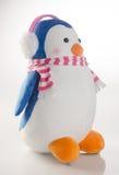 jouet ou pingouins faits main drôles de jouet sur le fond Photographie stock libre de droits