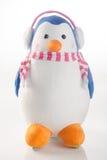 jouet ou pingouins faits main drôles de jouet sur le fond Image stock
