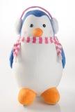 jouet ou pingouins faits main drôles de jouet sur le fond Photo libre de droits