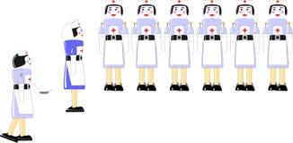 Jouet peint en bois d'infirmière Image stock