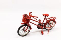 Jouet rouge de bicyclette Image libre de droits