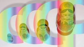 Jouet russe 1 de poupée Image stock