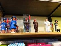Jouet solaire de figurine des personnes célèbres Images stock
