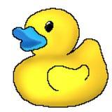 Jouet tiré de canard de bit du pixel 8 illustration stock