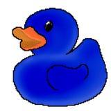 Jouet tir? de canard de bit du pixel 8 illustration libre de droits