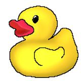 Jouet tir? de canard de bit du pixel 8 illustration de vecteur
