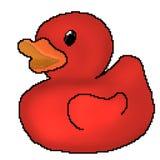 Jouet tir? de canard de bit du pixel 8 illustration stock