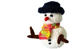 Jouet tricoté A de bonhomme de neige Images stock