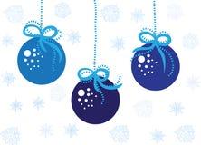 Jouets bleus de Noël Image stock