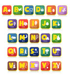 Jouets d'alphabet Photographie stock