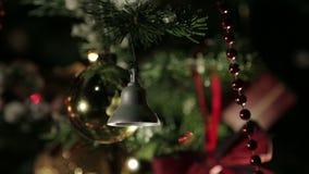 Jouets d'arbre de Noël banque de vidéos