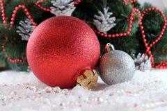 Jouets d'arbre de Noël Photographie stock libre de droits