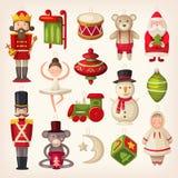 Jouets d'arbre de Noël illustration stock