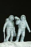 Jouets d'astronautes en plastique Photo libre de droits