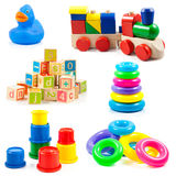 Jouets d'enfants. Joue la collection Photo stock