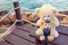 Jouets d'ours de vintage, jouets d'enfant Photos stock