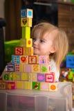 Jouets de cube Photos libres de droits