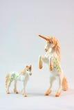 Jouets de figurine de licorne Photos libres de droits