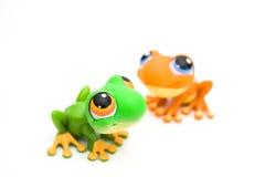 Jouets de grenouille Photos libres de droits