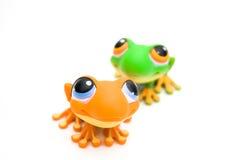 Jouets de grenouille Images libres de droits
