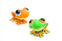 Jouets de grenouille Photographie stock libre de droits