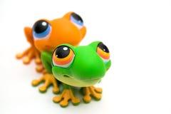 Jouets de grenouille Photo libre de droits