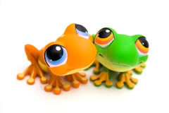 Jouets de grenouille photos stock