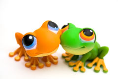 Jouets de grenouille Images stock