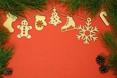 Jouets de Joyeux Noël Photographie stock libre de droits