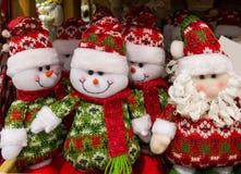 Jouets de Noël au marché photos libres de droits