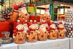 Jouets de Noël, cadeaux, figurines féeriques Photos stock