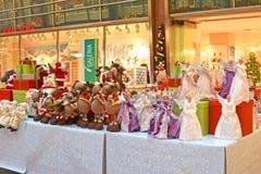 Jouets de Noël, cadeaux, figurines féeriques Photographie stock