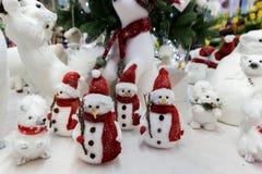 Jouets de Noël de Litlle sur l'affichage du marché photo libre de droits