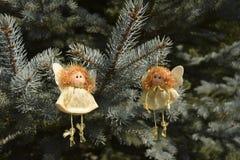 Jouets de Noël sous forme d'anges Photographie stock