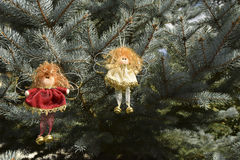 Jouets de Noël sous forme d'anges Image libre de droits