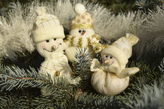 Jouets de Noël sous forme de bonhommes de neige Photo stock